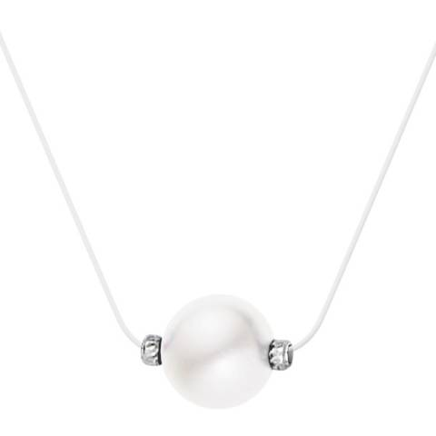 Only You Clear/White Pearl Necklace