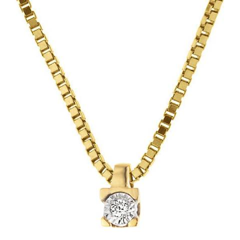 Pretty Solos Yellow Gold Solitaire Diamond Necklace 0.01 cts