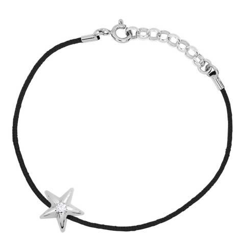 Only You Black/Silver Star Diamond Bracelet 0.03Cts