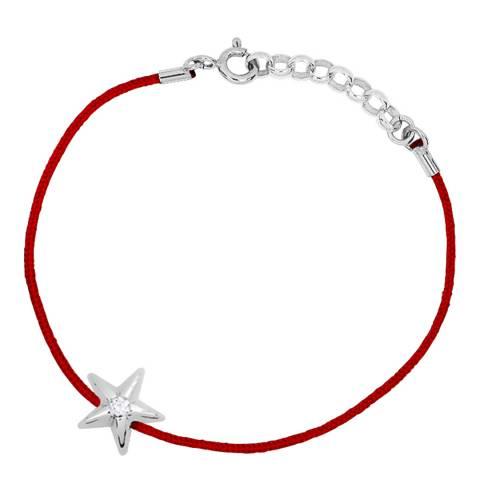 Only You Red/Silver Star Diamond Bracelet 0.03Cts