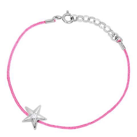 Only You Pink/Silver Star Diamond Bracelet 0.03Cts