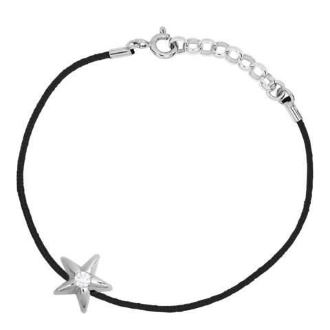 Only You Black/Silver Star Diamond Bracelet 0.05Cts