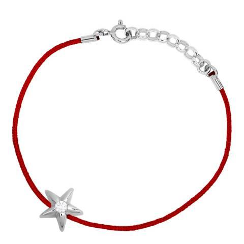 Only You Red/Silver Star Diamond Bracelet 0.05Cts