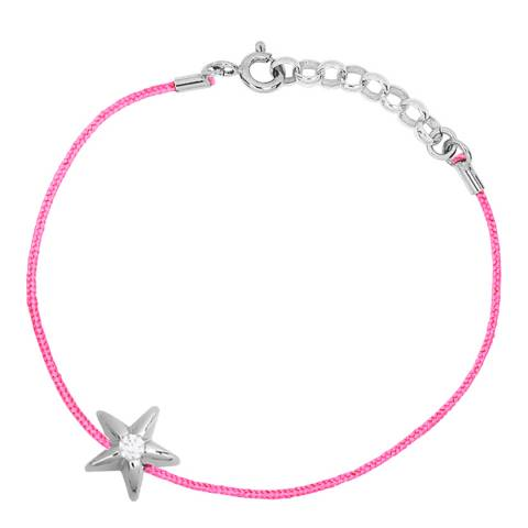 Only You Pink/Silver Star Diamond Bracelet 0.05Cts