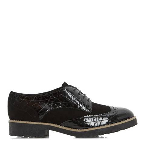 Dune Black Leather/Suede Faune Brogues