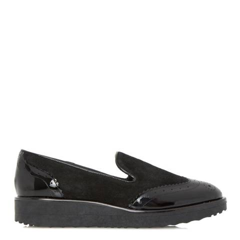 Dune Black Suede/Patent Leather Garner Loafers
