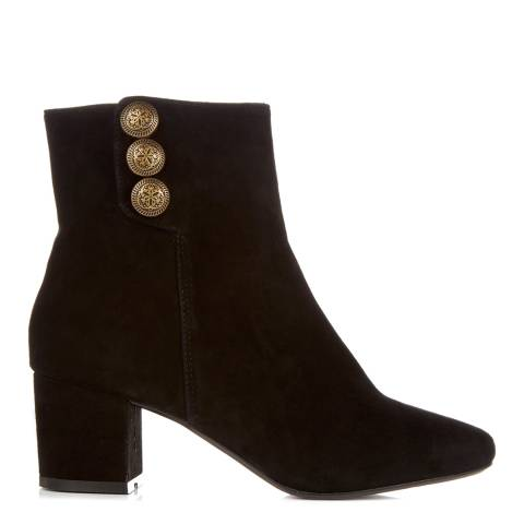 Dune Black Suede Parlour Ankle Boots