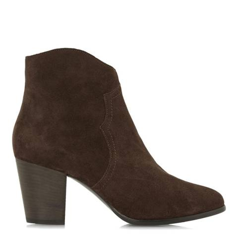 Dune Brown Suede Priscila Ankle Boots
