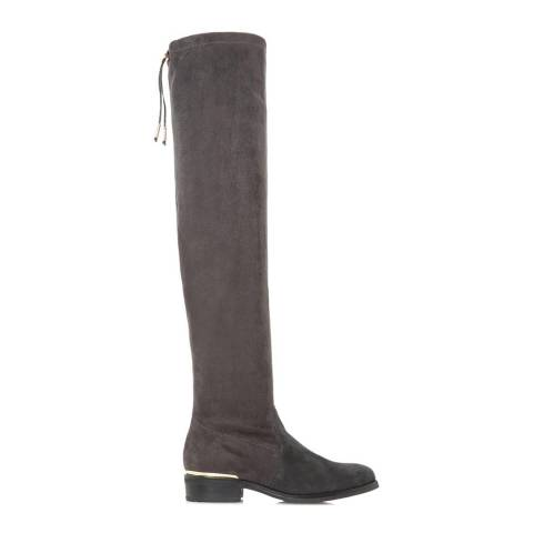 Dune Grey Suede Taliah Over The Knee Boots