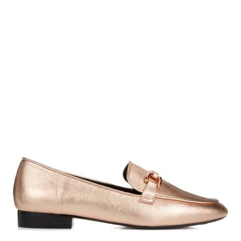 Dune Rose Gold Metallic Lolla Loafer
