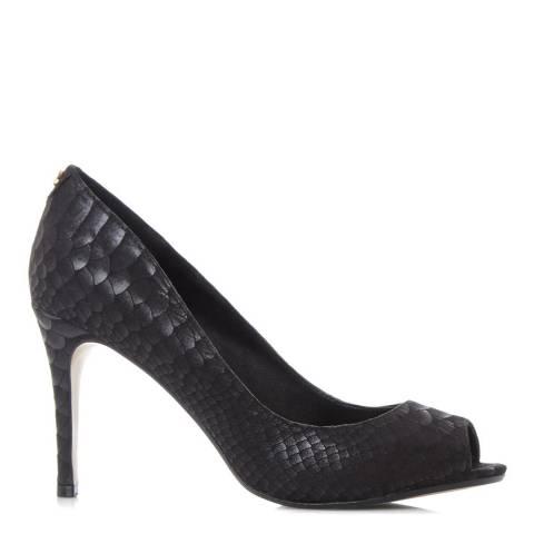 Dune Black Reptile Dinaa Peep Toe Heels