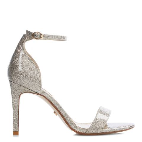 Dune Gold Mortimer Barely There Heeled Sandals