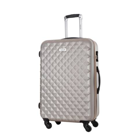 Travel One Beige Edison Spinner Suitcases 55cm
