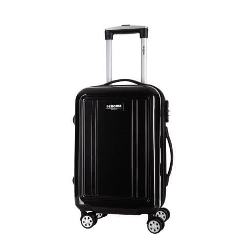 Renoma Black Keaton Spinner Suitcase 56cm