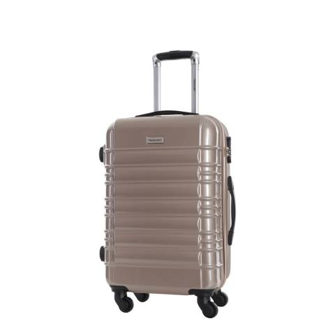 Travel One Beige Princeton Spinner Suitcase 45cm