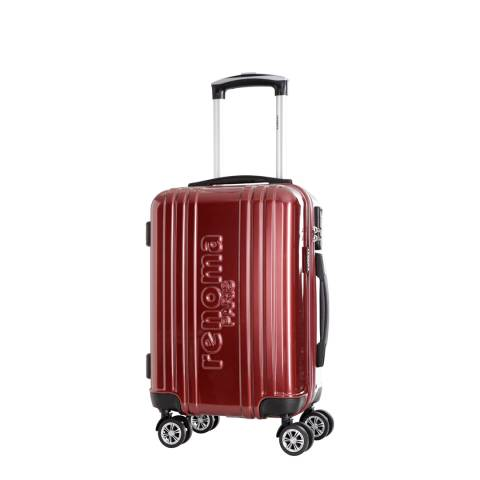 Renoma Burgundy 4 Wheel Harrison Suitcase 48cm
