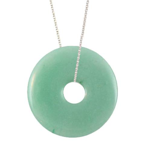 Alexa by Liv Oliver Silver Aventurine Eternity Necklace