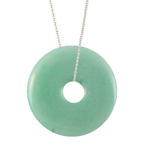 Alexa by Liv Oliver Silver Small Aventurine Eternity Necklace