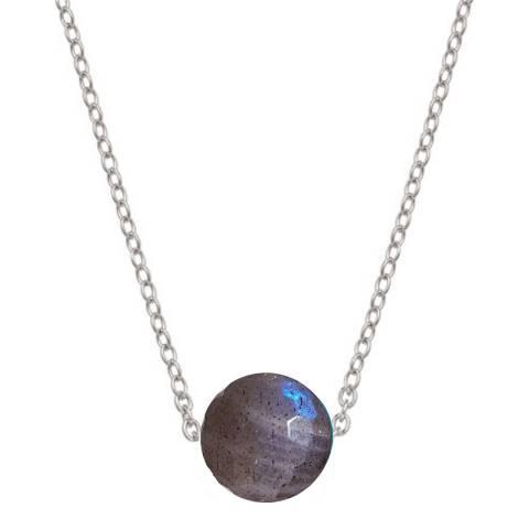 Alexa by Liv Oliver Silver/Labradorite Sterling Silver Labradorite Necklace