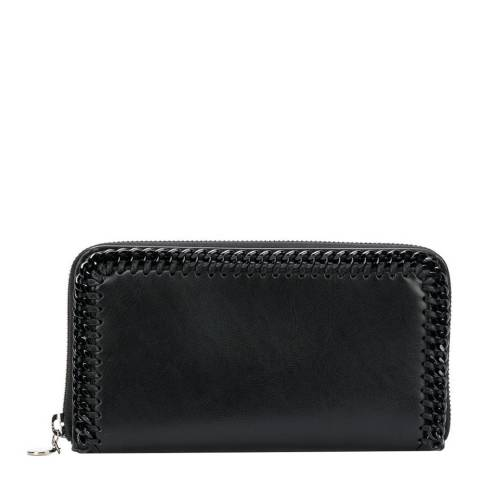 Stella McCartney Black Falabella Continental Wallet