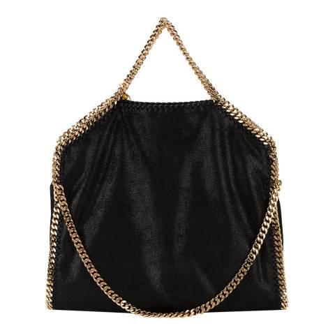 Stella McCartney Black Large Gold Falabella Tote Bag