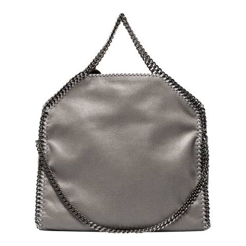 Stella McCartney Light Grey Falabella Shaggy Deer Fold Over Tote