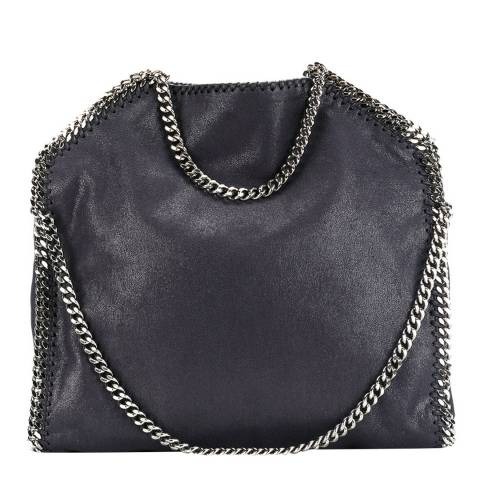 Stella McCartney Navy Falabella Shaggy Deer Fold Over Tote