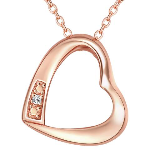Tess Diamonds Rose Gold Diamond Heart Necklace
