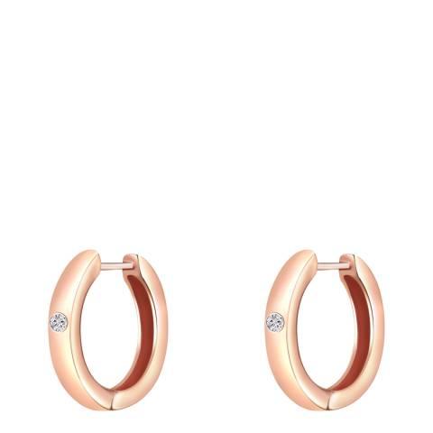 Tess Diamonds Rose Gold Hoop Earrings