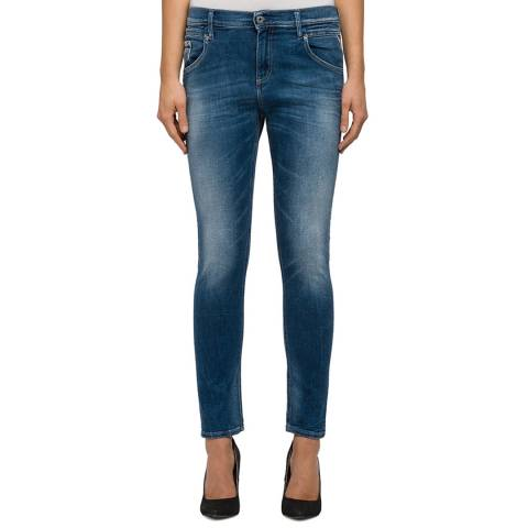 Replay Women's Indigo Straight Fit Stretch Jeans