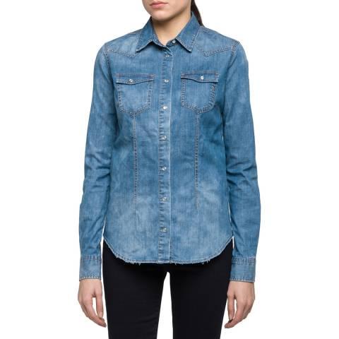 Replay Women's Blue Denim Shirt