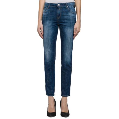 Replay Indigo Straight Fit Stretch Jeans