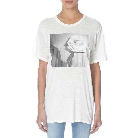 Diesel Cream Rachel Oversized Linen Blend T-Shirt