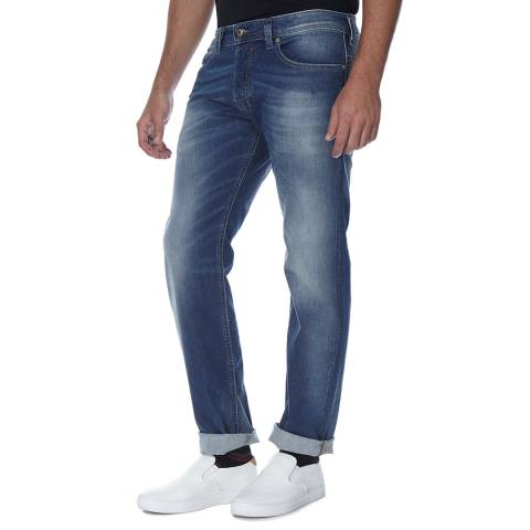 Diesel Mid Blue Safado Stretch Straight Fit Jeans