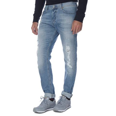 Diesel Light Blue Tepphar Stretch Slim Fit Jeans