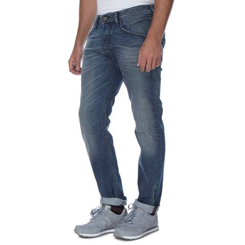 Diesel Blue Belther Stretch Slim Fit Jeans
