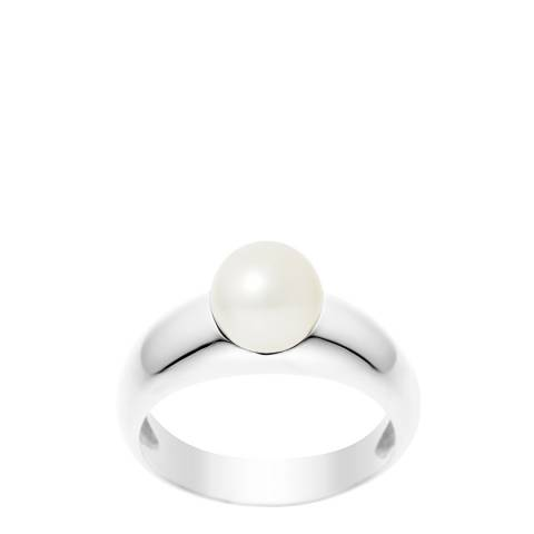 Manufacture Royale Silver Solid Ring with Natural Freshwater Pearl 7-8 mm
