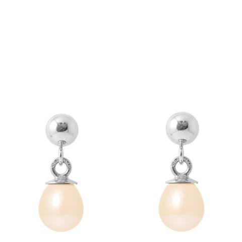 Perlinea Pearls Silver Earrings with Natural Pink Freshwater Pearls 5-6 mm