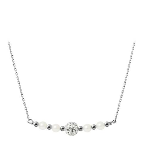 Manufacture Royale Silver Necklace with 4 Natural Freshwater Pearls 4-5 mm