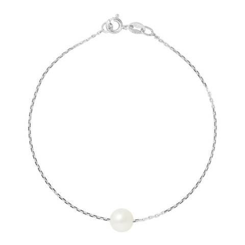 Manufacture Royale White Freshwater Pearl Bracelet 7-8 mm
