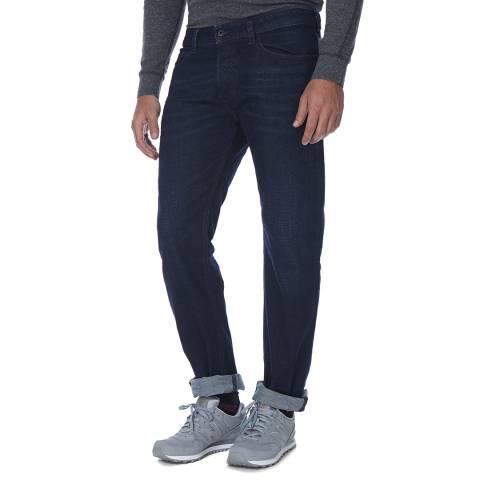 Diesel Navy Waykee Stretch Straight Fit Jeans