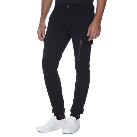 Diesel Black Groove Stretch Slim Fit Jeans