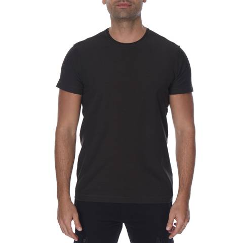 Diesel Off Black Tossik Textured Cotton T-Shirt