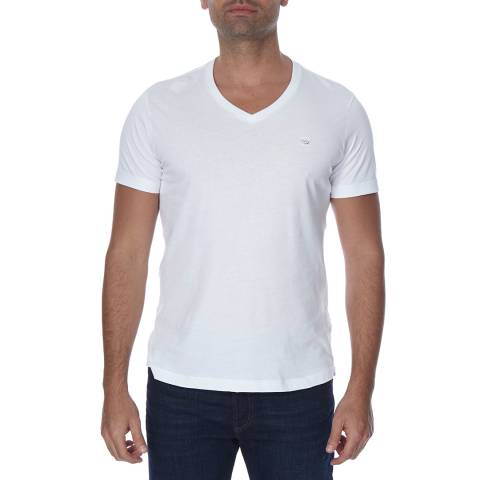 Diesel White Therapon Plain Cotton T-Shirt