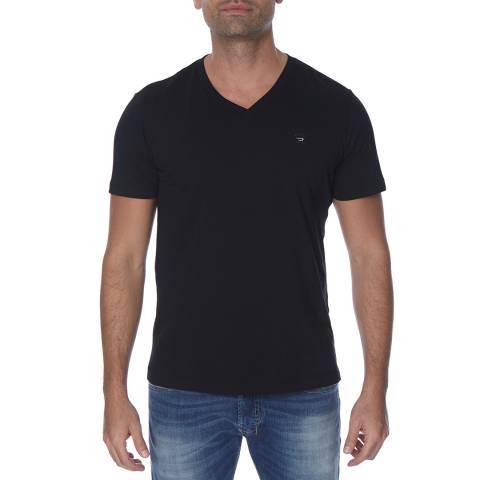 Diesel Black Therapon Plain Cotton T-Shirt