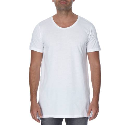 Diesel White Marcuso Long Cotton T-Shirt