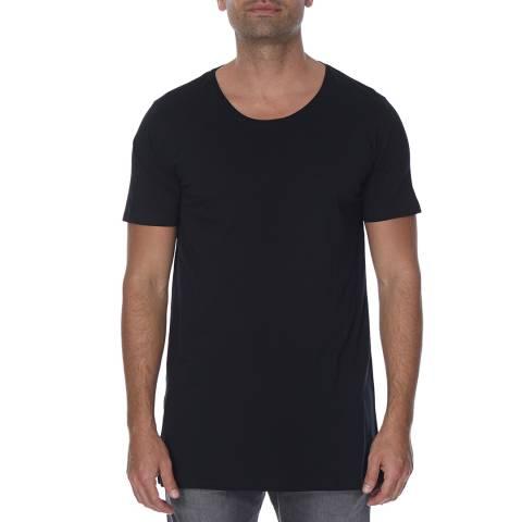 Diesel Black Marcuso Long Cotton T-Shirt