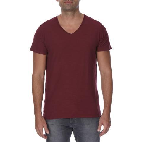 Diesel Burgundy Court Cotton T-Shirt