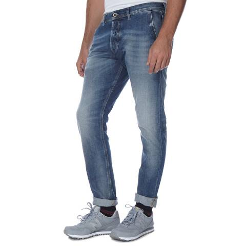 Diesel Mid Blue Kakee Stretch Slim Fit Jeans