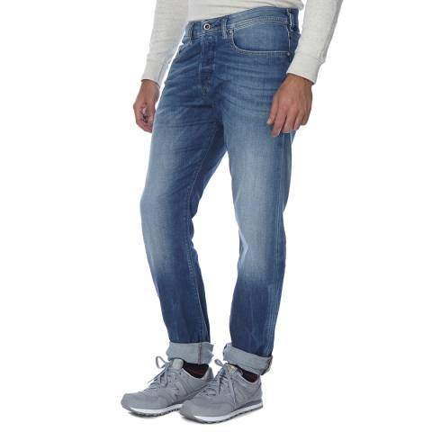 Diesel Mid Blue Buster Stretch Slim Fit Jeans